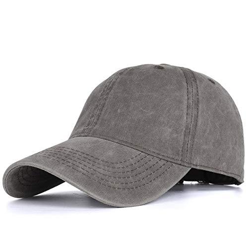 Gorra de béisbol de algodón Lavado Hombres, Gorra Vintage con Snapback para Mujer, Gorras Ajustables para Exteriores, Gorra Negra para papá-Brown