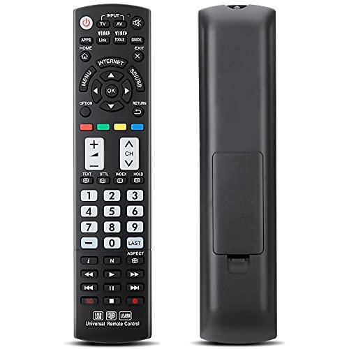 Mando a Distancia Universal para Panasonic TV N2QAYB000487 N2QAYB000490 N2QAYB000353 N2QAYB000048 Compatible con Todos los Modelos remotos.