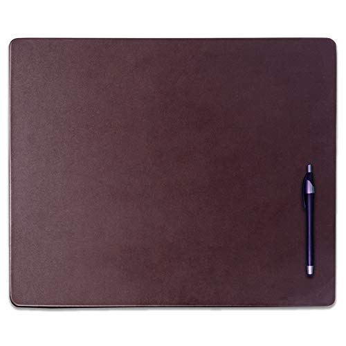 Dacasso Chocolate Brown Leather Conference Table Pad, 17 by 14-Inch