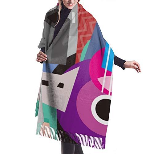 YANAIX Frauen Herbst klassischer Winterschal, Picasso das tanzende Paar und die Frau, die Gitarre spielt feiner Tanz abstrakter Kubismus, Schal warme weiche klobige große Decke Wickelschals