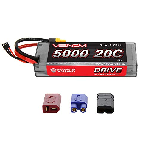 Venom 20C 2S 5000mAh 7.4V Hard Case LiPo Battery with Universal Plug (EC3/Deans/Traxxas/Tamiya)