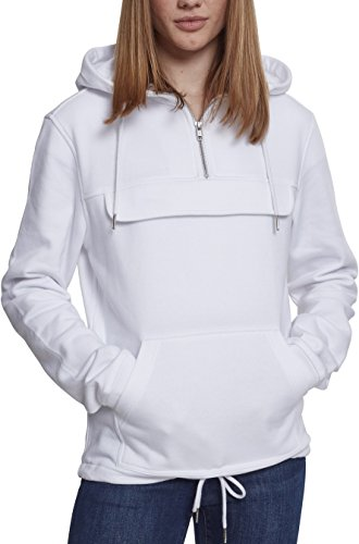 Urban Classics Damen Ladies Sweat Pull Over Kapuzenpullover, White, XL
