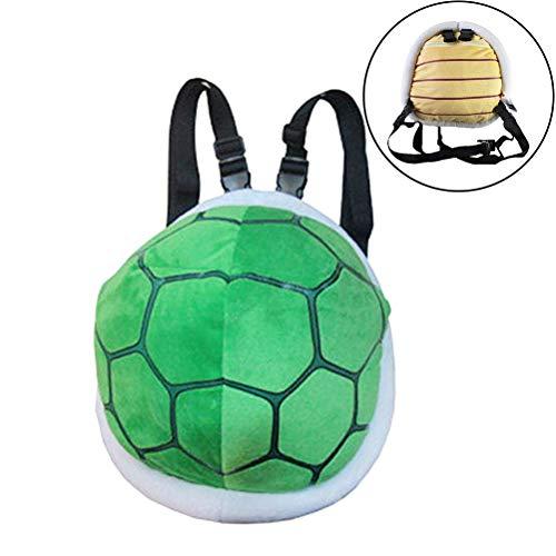 Knowooh Schildkrötenpanzer Cartoon Plüschtier Kleinen Rucksack für Kinder Kostüm Turtle Schildkröte Plüsch Cartoon Cosplay Rucksack Schultaschen, Grün