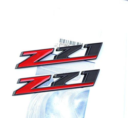 Yoaoo 1x OEM Matte Black Z71 Emblem Badges 3D for Gm Chevy Silverado 1500 2500Hd Sierra Tahoe Suburban Red Decals