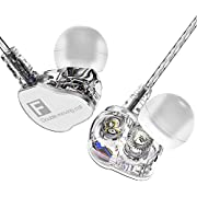 TNSO Headphones, Ergonomic in-Ear Earbuds Built in-MIC, Dynamic Crystal Clear Sound Earphones Best Noise Isolation Headsetsfor Sports Workout (Grey)