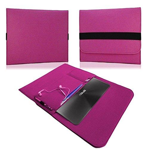 NAUC HP EliteBook Folio G1 12,5 Zoll Tasche Hülle Filz Sleeve Schutzhülle Hülle Cover, Farben:Pink