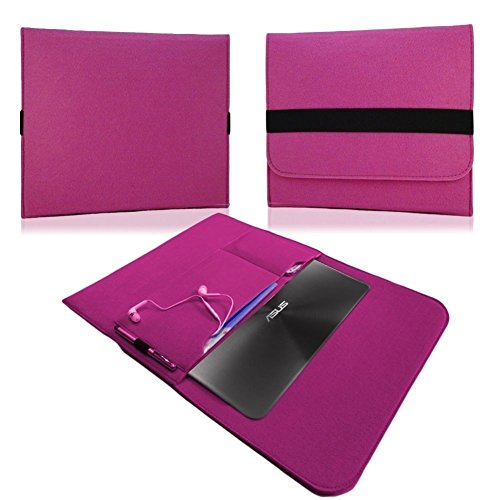 NAUC HP EliteBook Folio G1 12,5 Zoll Tasche Hülle Filz Sleeve Schutzhülle Case Cover, Farben:Pink