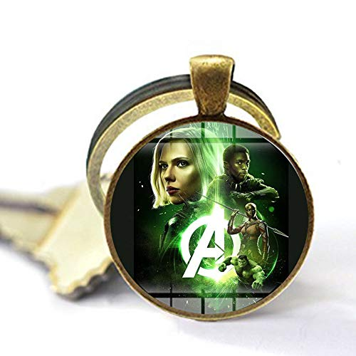 bab Marvel Avengers Infinity War Halskette Superhelden Major League Kunstposter handgefertigt Glas Cabochon Anhänger Filme Schmuck 3 Schlüsselanhänger individuelles Geschenk