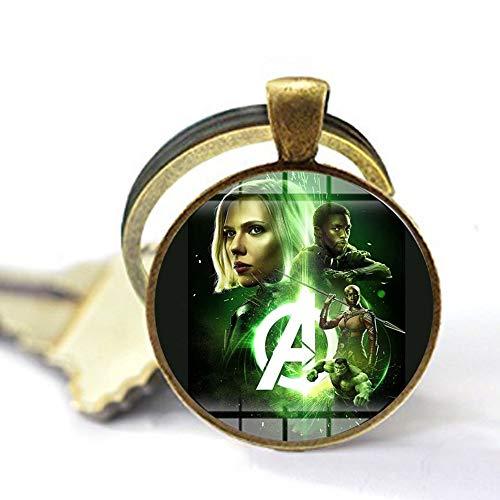 bab Marvel Avengers Infinity War Collar Super Heros Major League Art Poster hecho a mano con colgante de cabujón de cristal para películas y joyas, 3 llaveros, regalo personalizado