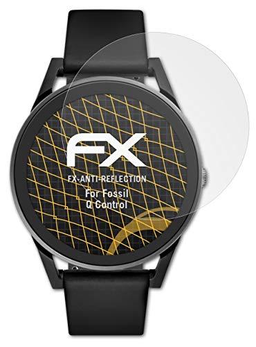 atFoliX Panzerfolie kompatibel mit Fossil Q Control Schutzfolie, entspiegelnde & stoßdämpfende FX Folie (3X)