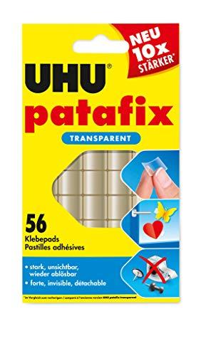 Uhu 48815 - Patafix - 56 pad adesivi a doppia faccia, colore: Trasparente