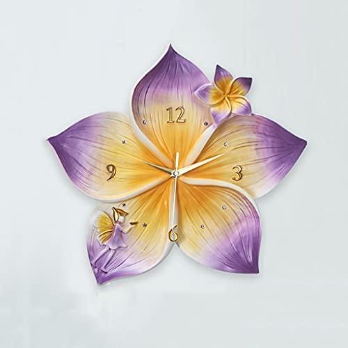 GZQDX Arte Moderno Sala de Estar Creativa Hogar Reloj silencioso Decoración de Pared Reloj Decoración de Sala de Estar Decoración del hogar (Color : Purple)