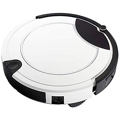 LQZ Robot aspiradora de aspiradora Inteligente aspiradora táctil Pantalla de Limpieza de Barrido doméstico Robot con Control Remoto,Blanco