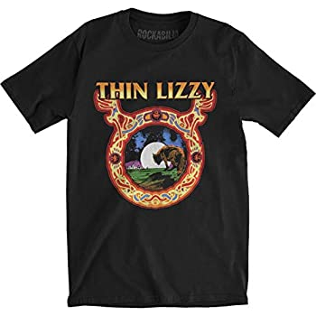 Thin Lizzy Men s Wolf Moon Slim Fit T-Shirt XX-Large Black
