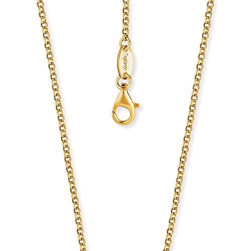 Engelsrufer Erbskette Vergoldet 925er-Sterlingsilber Stärke 2,1 mm Länge 80 cm