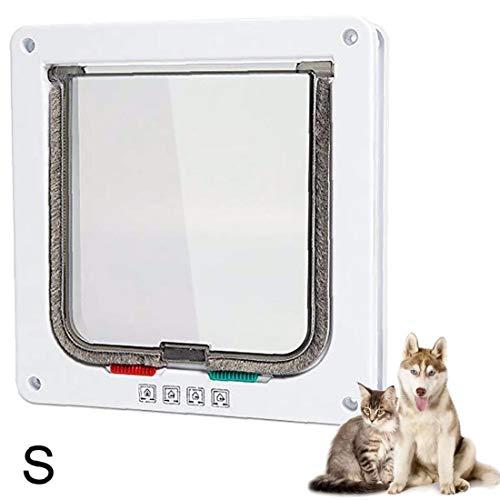 Gatera Pet Puerta de instalación Sencilla túnel del Gato Entrada Exclusiva para los Gatos Grandes de Perros pequeños S Blanco
