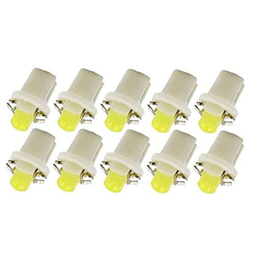 COB LED Salpicadero Cua Bombillas T5 Panel de instrumentos B8.5-1SMD para el coche Número de paneles placa blanca 10PCS