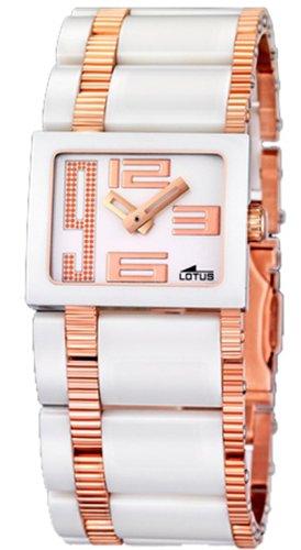 Lotus Ceramic Reloj para Mujer Analógico de Cuarzo con Brazalete de Cerámica L15598/1