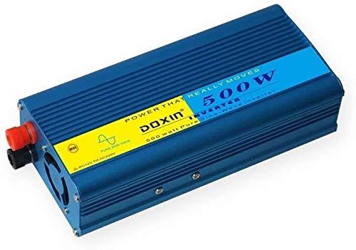QJM AC Auto-Wandler 500W reinen Sinus-Wechselrichter, DC 12V, 24V, 48V, 60V bis 220V AC Fahrzeug-Leistungswandler, geeignet for Auto, Haus, Solar system12V Haltbar, 48v AC Auto-Wandler