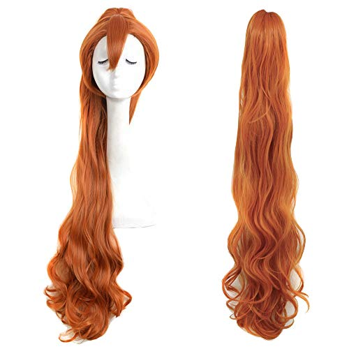 Yuehong Brown Long Fashion Natural Braided Wig Thumbelina Wig Full Curly Wig Cosplay Wigs Party Wig