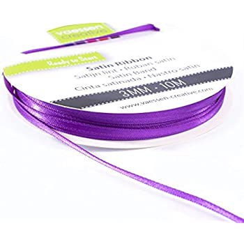 10mm LILAC AND WHITE STRIPE RIBBON CARDMAKING GIFT WRAPPING SEWING
