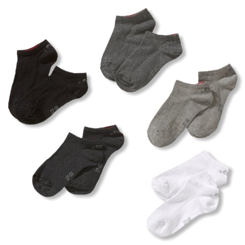 s.Oliver Socks Jungen S24125-Jungen Sneakersocke, Mehrfarbig (49 graue Kombis: Weiß, Hellgrau, Dunkelgrau, Anthrazit, Schwarz), 39-42