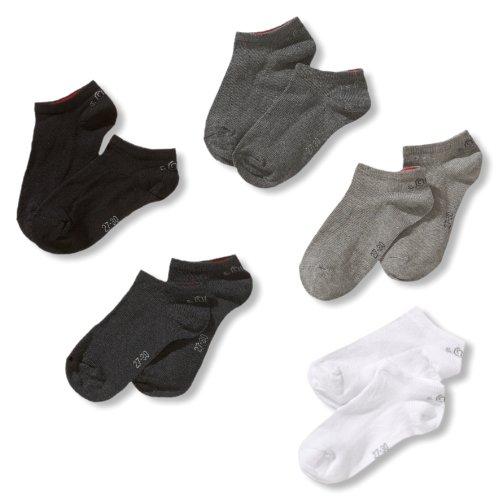s.Oliver Socks Jungen S24125-Jungen Sneakersocke, Mehrfarbig (49 graue Kombis: Weiß, Hellgrau, Dunkelgrau, Anthrazit, Schwarz), 31-34