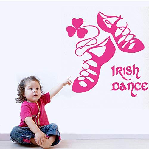 Irischer Tanz Irische Wandaufkleber Tanzschuhe Mädchen Wohnkultur Schlafzimmer Aufkleber Irisches Haus Dekoration Wandbild 42X43Cm