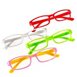 Romens Ltd Set 4 Pair Gafas de Lectura Hombre Mujeres +0.5 +1.00 +2.00 +3.00 +4.00 Slim Reading Glasses (4 Pair Set 2, 0.5)