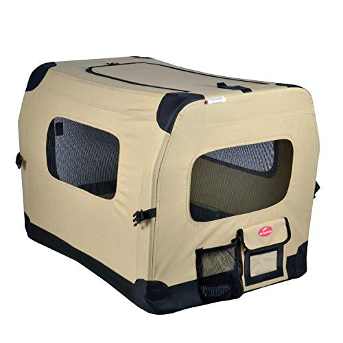 Petnation 612 Port-A-Crate Indoor and Outdoor Home for Pets 32 Inch, Beige