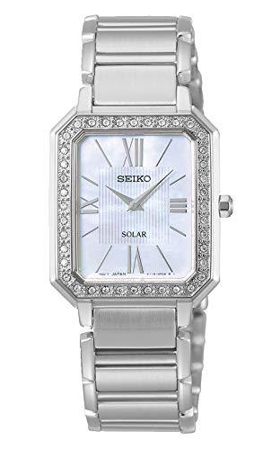 Seiko Reloj Analógico para Mujer de Cuarzo con Correa en Acero Inoxidable SUP427P1