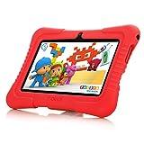 Ainol [Nuevo] Q88a(Tablet para niños con WiFi de 7 Pulgadas,Tablet Infantil de Android 8.1, Regalo para niños,Quad Core 1GB+8GB,Soporta Tarjeta TF 64GB,Doble cámara,Juegos educativos) Rojo