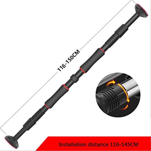 Deur rekstok fitnesstoestellen pull-up kozijn gang horizontale balk zonder ponsen (66-100cm, 84-130cm, 116-150cm)