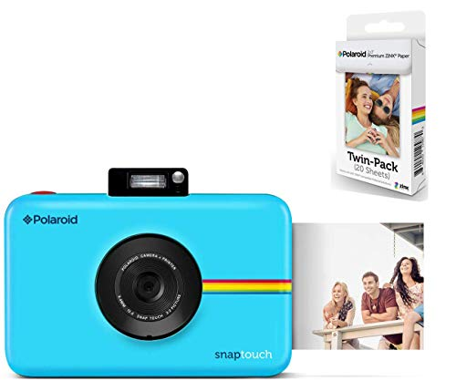 Polaroid Snap Touch Instant Digital Camera (Blue) with 20 Sheets Zink Paper.