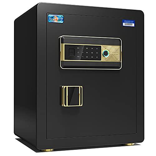 Caja fuerte para oficina, contraseña segura para huellas dactilares, caja fuerte antirrobo inteligente de aleación de acero, huella digital semiconductora, gran capacidad/A / 38cm×32cm×45cm