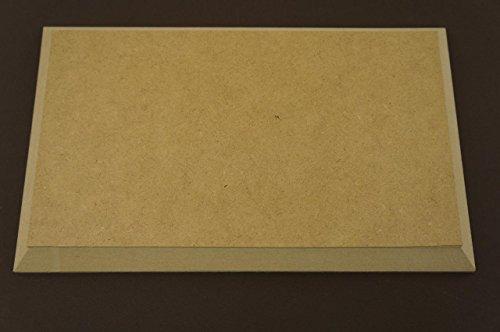 Lot de 2 plaques murales en MDF vierges à suspendre de forme rectangulaire pour décoration de chambre (X41)