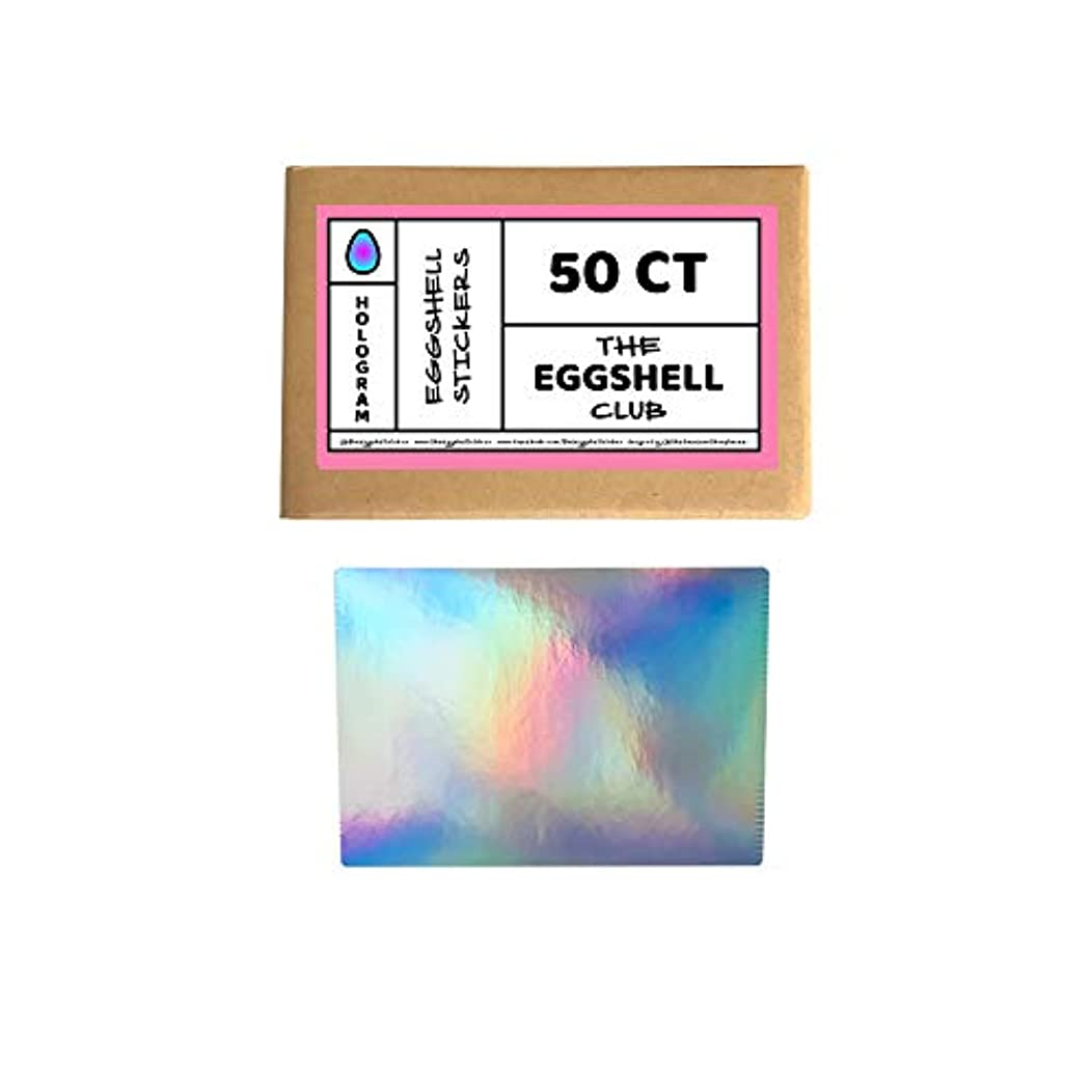 Hologram | Premium Eggshell Sticker Blanks | 50 Pack | Sun-Proof UV Ink | Weather Resistant | Quick & Easy Peel