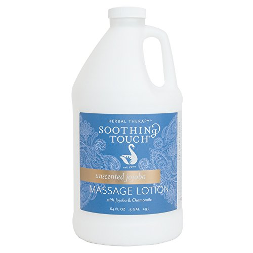 Soothing Touch Unscented Jojoba Massage Lotion Half Gallon (64 Oz) by Soothing Touch