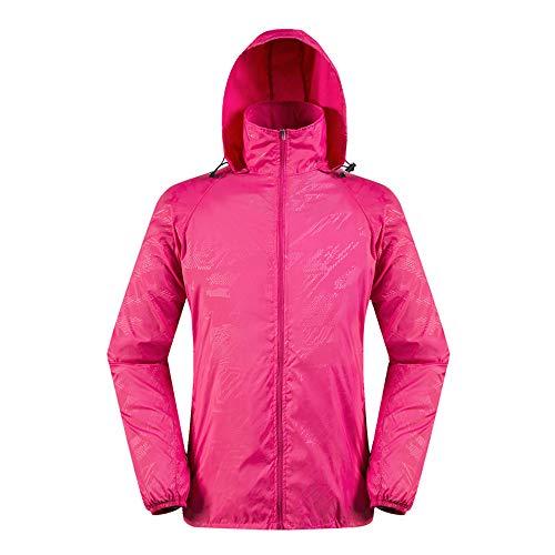OSYARD Herren Sweatjacke,Hoodie Sweatshirt,Outdoorjacke, Männer Leichte Jacke Mäntel wasserdichte Windbreaker Coat Sportjacke Kapuzenjacke Windmantel Tops Bluse T-Shirt mit Kapuze(XL, Pink)