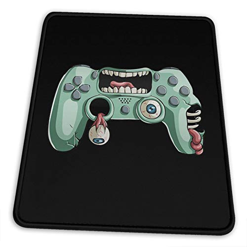 Gamer Controller Zombie Mouse Pad with Stitched Edge, Premium Textured...