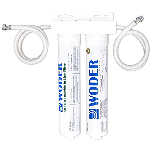 Woder WD-FRM-8K-DC Fluoride Removal Water Filtration System with Direct Connect Under Sink Fittings - Made in The USA – Removes Fluoride, Chlorine, Lead, Heavy Metals and Odors
