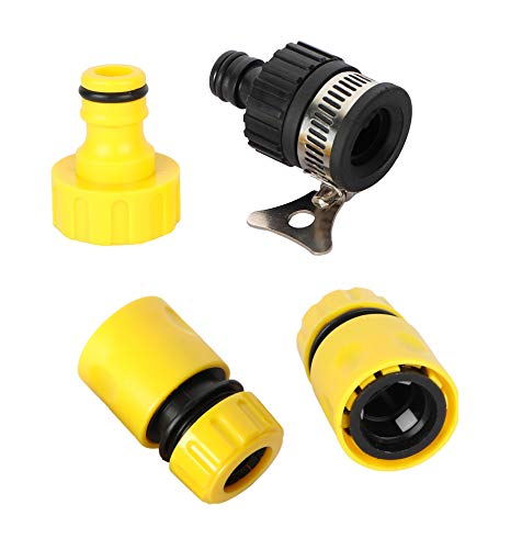 VMTC Tap Connector Set (2 Quick Connector, 1 tap Connector & Adapter) for Gardening & Pressure Washer Like Karcher, Bosch, Black & Decker etc