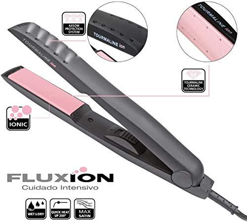 Piastra per capelli professionale, Fluxion, piastra per capelli in ceramica, con funzione ionica, cura professionale dei capelli.