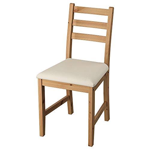 LERHAMN stol 42 x 49 x 85 cm ljus antik fläck/Vittaryd beige