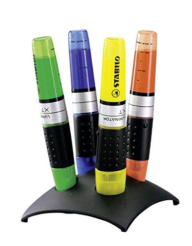 Textmarker - STABILO LUMINATOR - 4er Tischset - gelb, grün, blau, orange