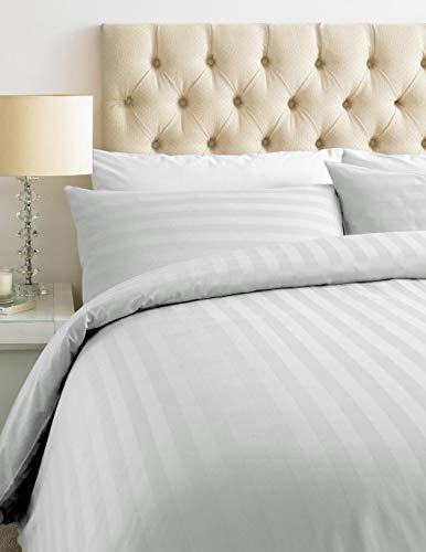 Juego de funda de edredón y fundas de almohada (calidad de hotel) de 20 colores, 300 hilos (doble)