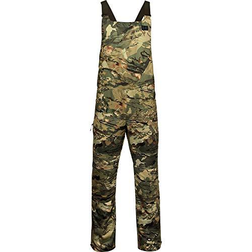 Under Armour Men's Brow Tine Bibs , Ua Forest 2.0 Camo (988)/Black , Large