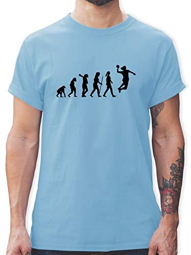 Evolution - Handball Evolution Damen - M - Hellblau - Mensch - L190 - Tshirt Herren und Männer T-Shirts