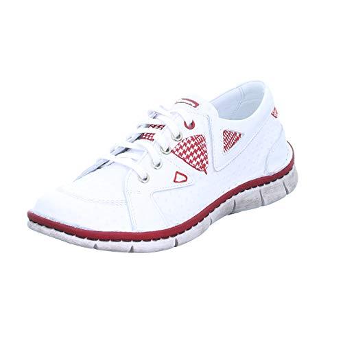 KRISBUT Damen Sneaker 2419 Echtleder Schnürhalbschuhe Weiß Größe 36 EU