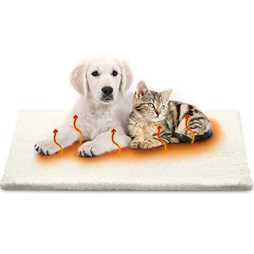 Petgold Heizdecke Katze 60x45cm ohne Strom - Selbstheizende Decke für Katzen & Hunde - Premium Tiere Wärmedecke – Sichere Selbstwärmende Katzendecke